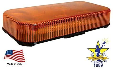 Mytee Products Minibar LED Strobe Light - Amber Permanent Mount Star Headlight 9100LED
