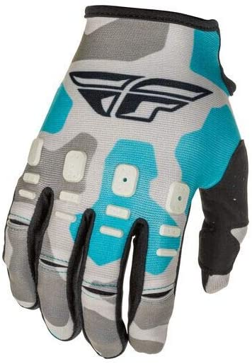 Fly Racing 2021 Kinetic Gloves - K221 (XXX-Large) (Grey/Blue)