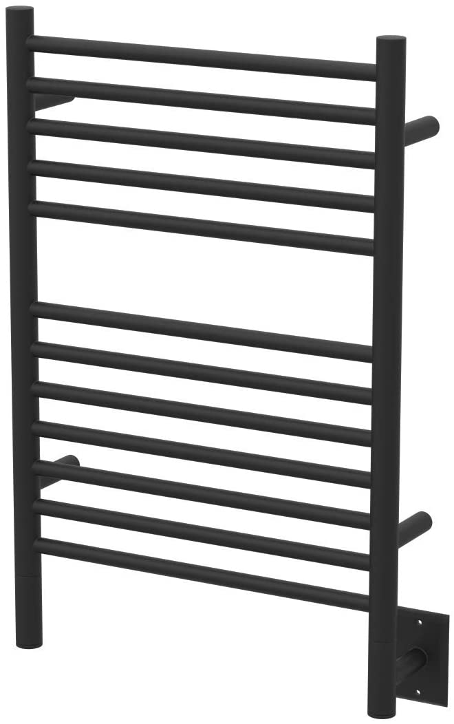Amba Jeeves Model E-Straight 12-Bar Hardwired Towel Warmer in Oil Rubbed Bronze