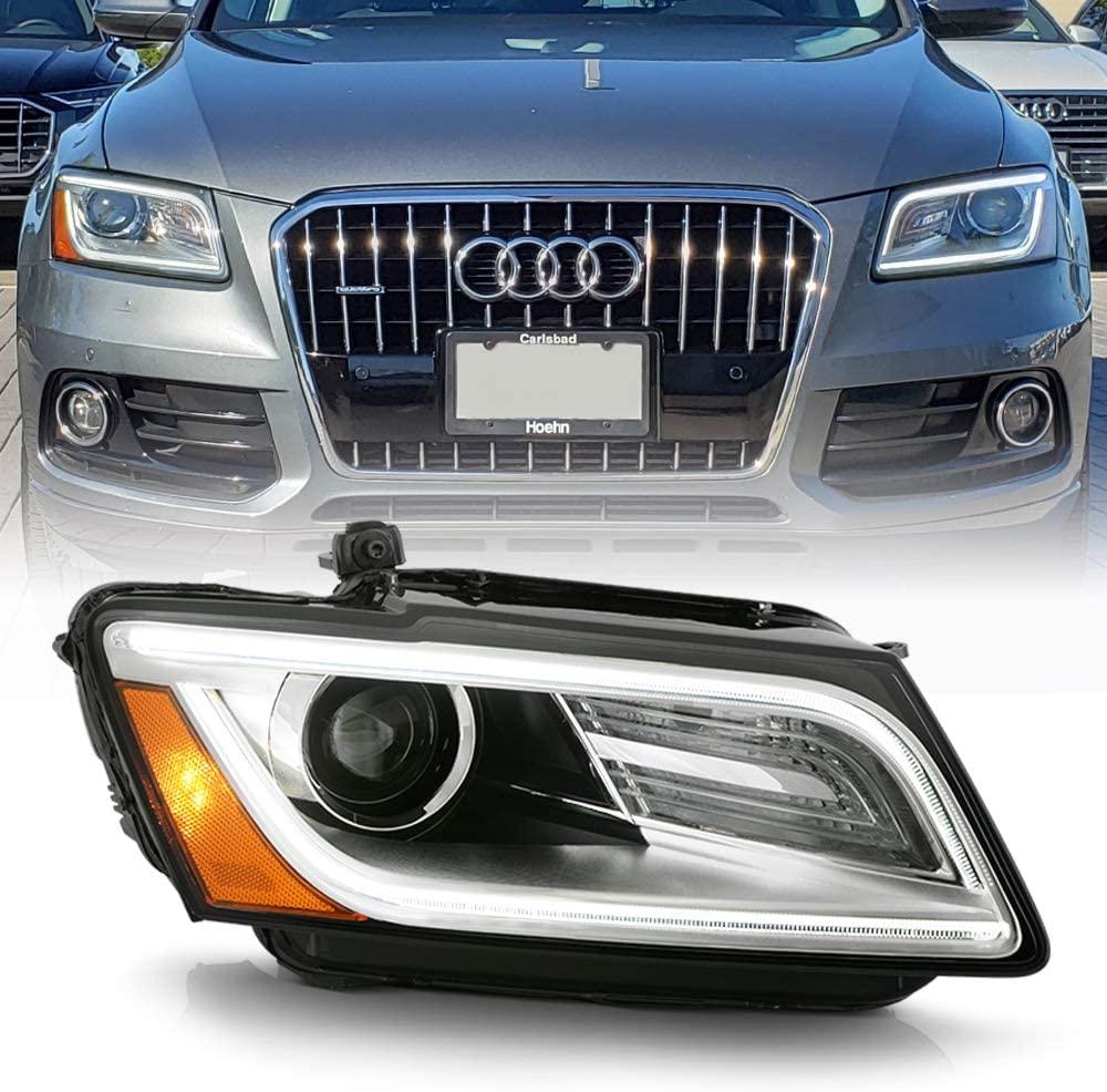 ACANII - For [HID/Xenon-Non AFS Model] 2013-2017 Audi Q5 SQ5 LED DRL Tube Projector Headlight Headlamp RH Passenger Side
