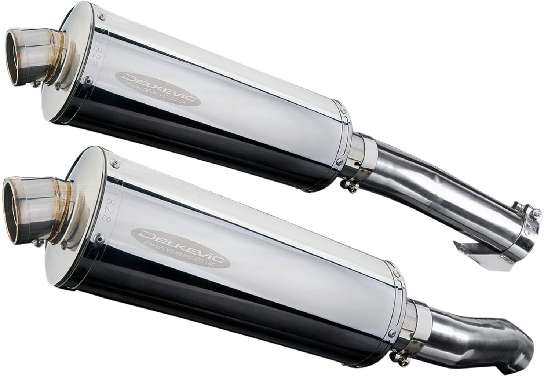 Delkevic Aftermarket Slip On compatible with Kawasaki Z1000 Ninja Stubby 14