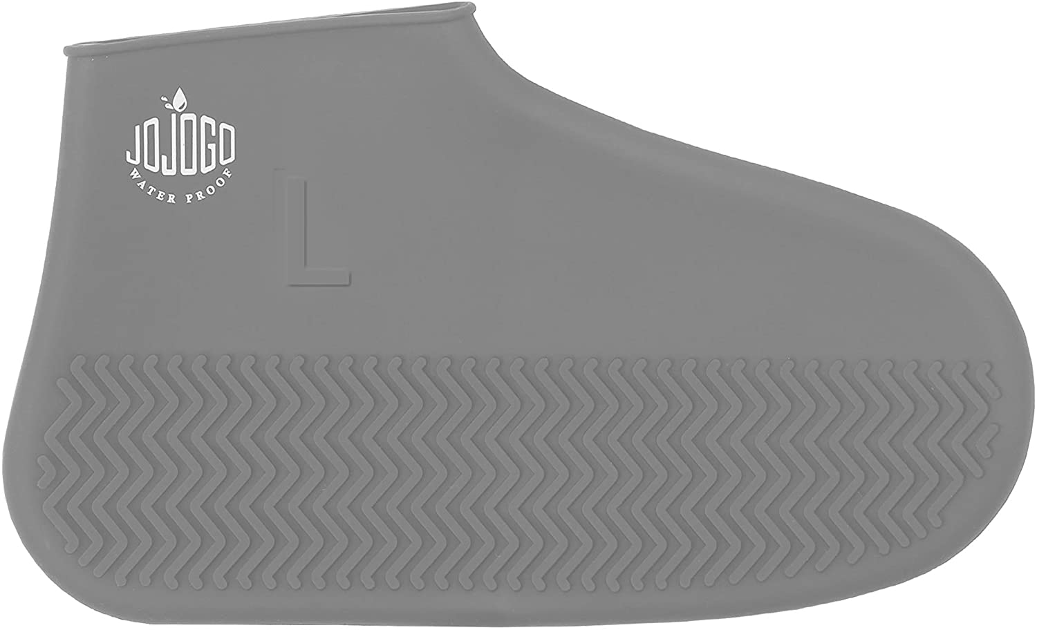 JOJOGO Reusable Silicone Waterproof Shoe Covers-Gray L