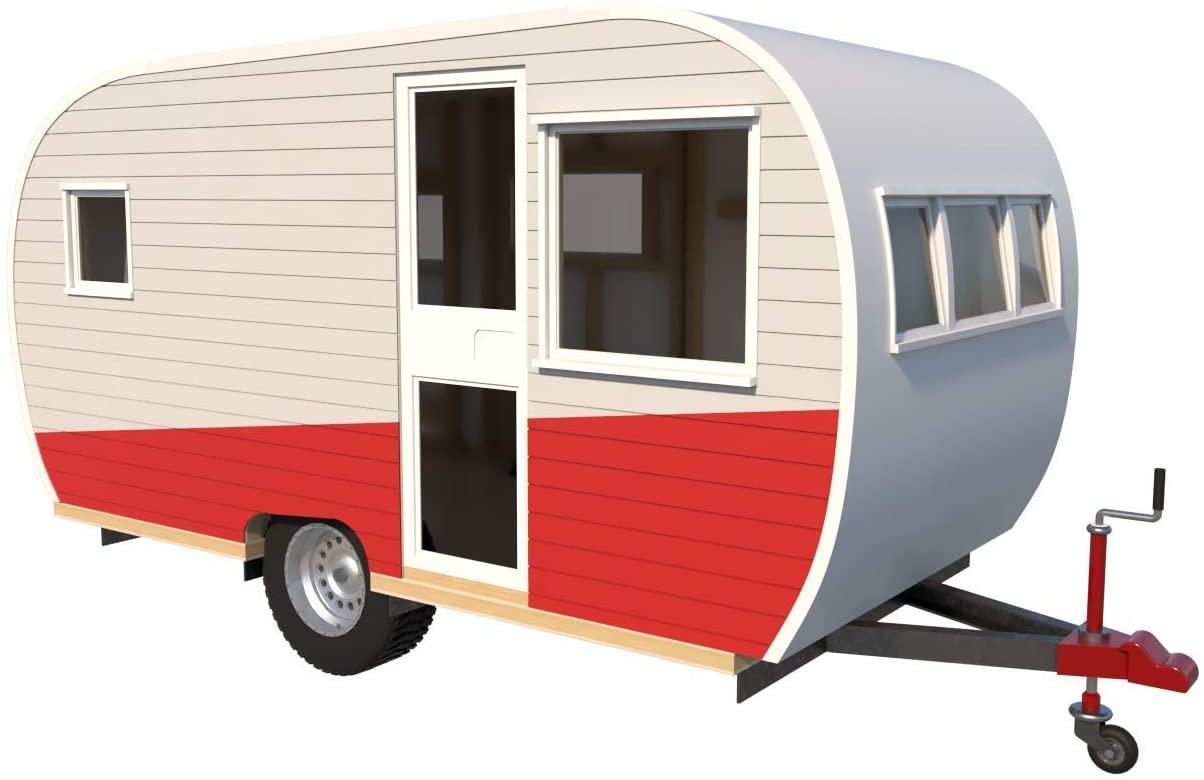 15' Teardrop Camper Trailer Plans DIY Tear Drop Camper RV Build Your Own New