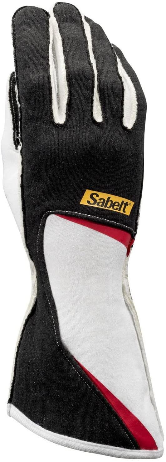Sabelt TG07 Diamond Gloves - Nomex Racing Gloves - FIA Approved - BLACK - SIZE 11/L