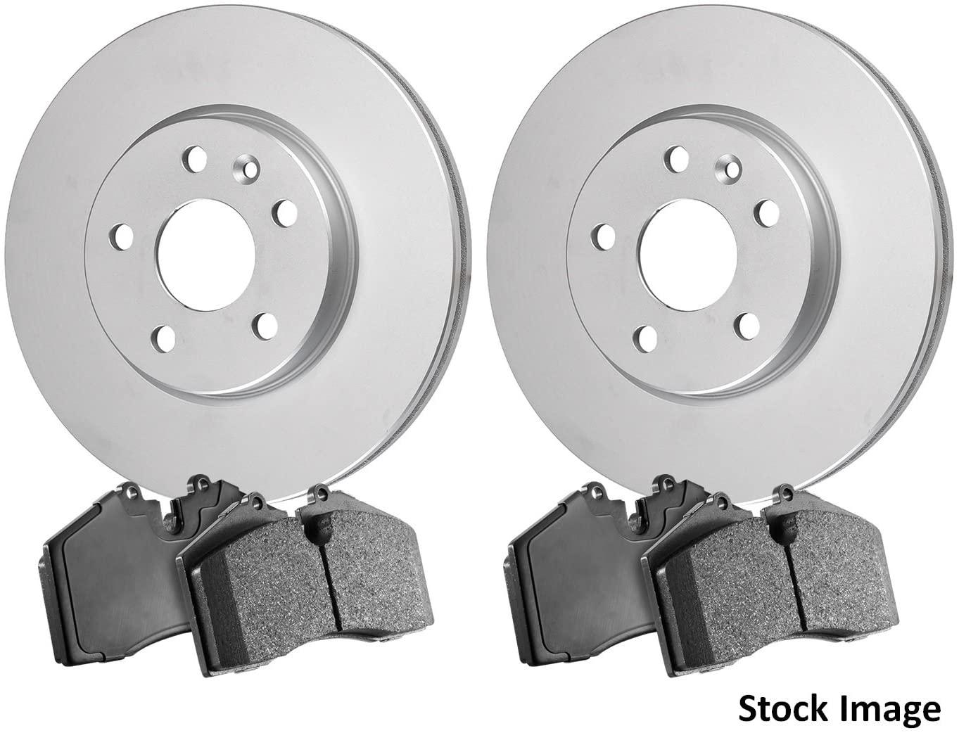 Stirling - 2008 For Mitsubishi Endeavor Front Anti Rust Coated Disc Brake Rotors and Ceramic Brake Pads