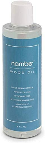 Nambe Plant Based Wood Oil 8oz - Food Surface Safe Unique Blend - Easily Absorbs - Extends the Life of Wood Products - Protects and Prevents Cracking - Made in the USA