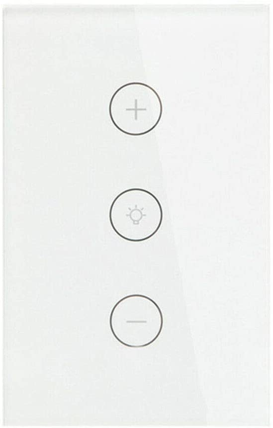 Smart WiFi Dimmer Light Switch, LemSa Touch Panel Wireless Remote Control, Compatible with Alexa and Google Assistant Timing Function, No Hub Required