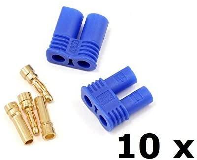 WST EC2 2mm Banana Plug Male Female Gold Bullet Connector for RC ESC Motor LIPO Battery 10 Pairs