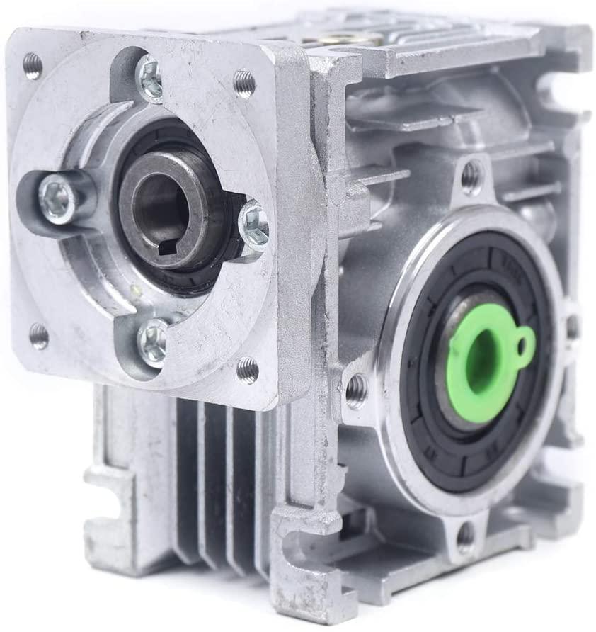 WINUS Worm-Gear Reducer,NMRV030 NEMA23 Gearbox 30:1 Worm Geared Speed Reducer for CNC Stepper Motor