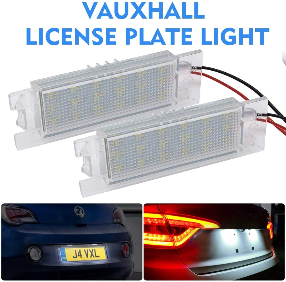 license plate light bulb - MASO LED LICENSE NUMBER PLATE LIGHT VAUXHALL OPEL CORSA C D ASTRA H J INSIGNIA VECTRA