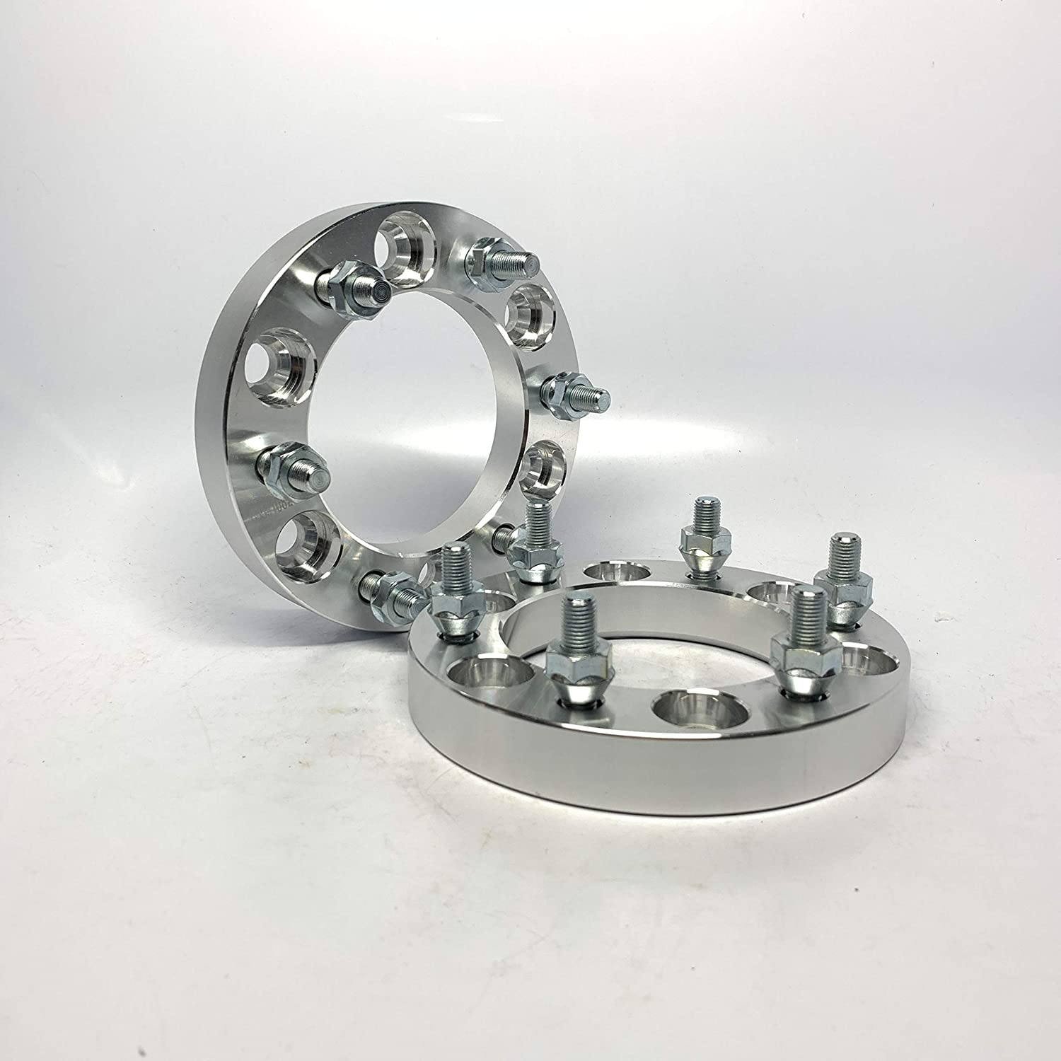 Customadeonly 2 Pieces 1 25mm Wheel Spacers Bolt Pattern 6x5.5 to 6x5.5 6x139.7 Center Bore 108mm Thread Pitch 7/16 Studs