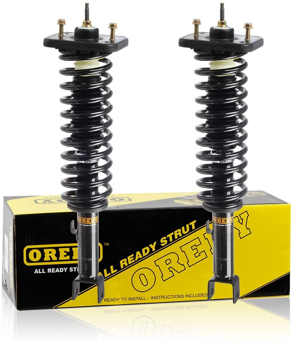 OREDY Rear Pair Complete Shocks Struts Assembly Coil Spring Kit 171311 15370 G57025 1336338 531311 Compatible with Cirrus 1999 2000 Replacement for Dodge Stratus 99 00