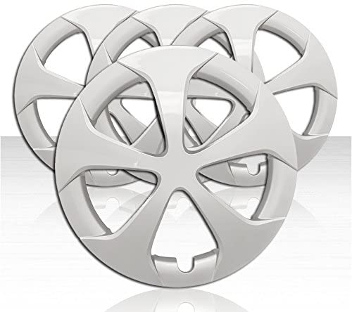 Auto Reflections Set of 4 Wheel Covers for 2012-2015 Toyota Prius 5 Spoke 15 inch - Silver