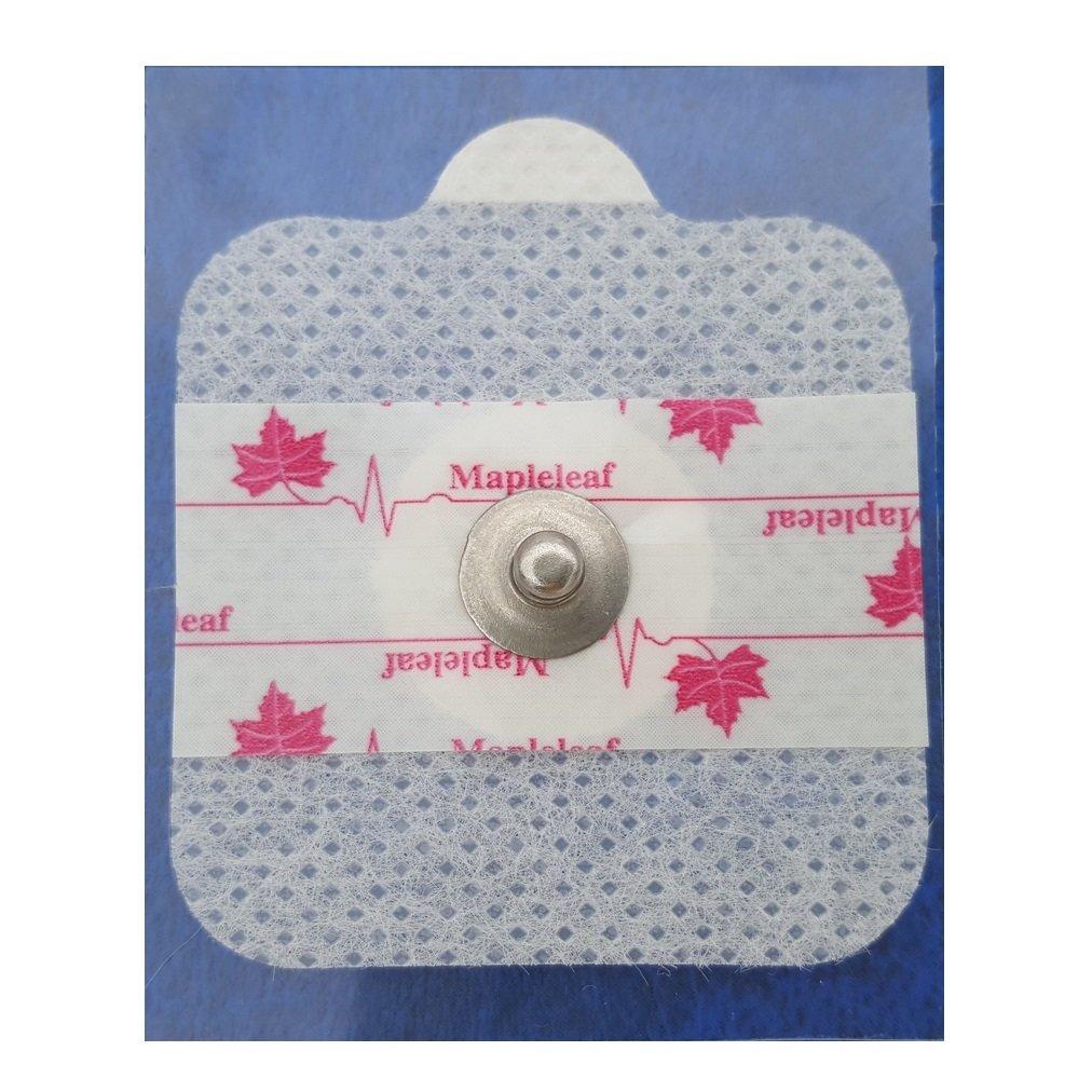 Disposable Medical Reusable Dry ECG Electrode (10 Package X 80) Universal 800pcs Mapleleaf Multi-Purpose Monitoring Electrode