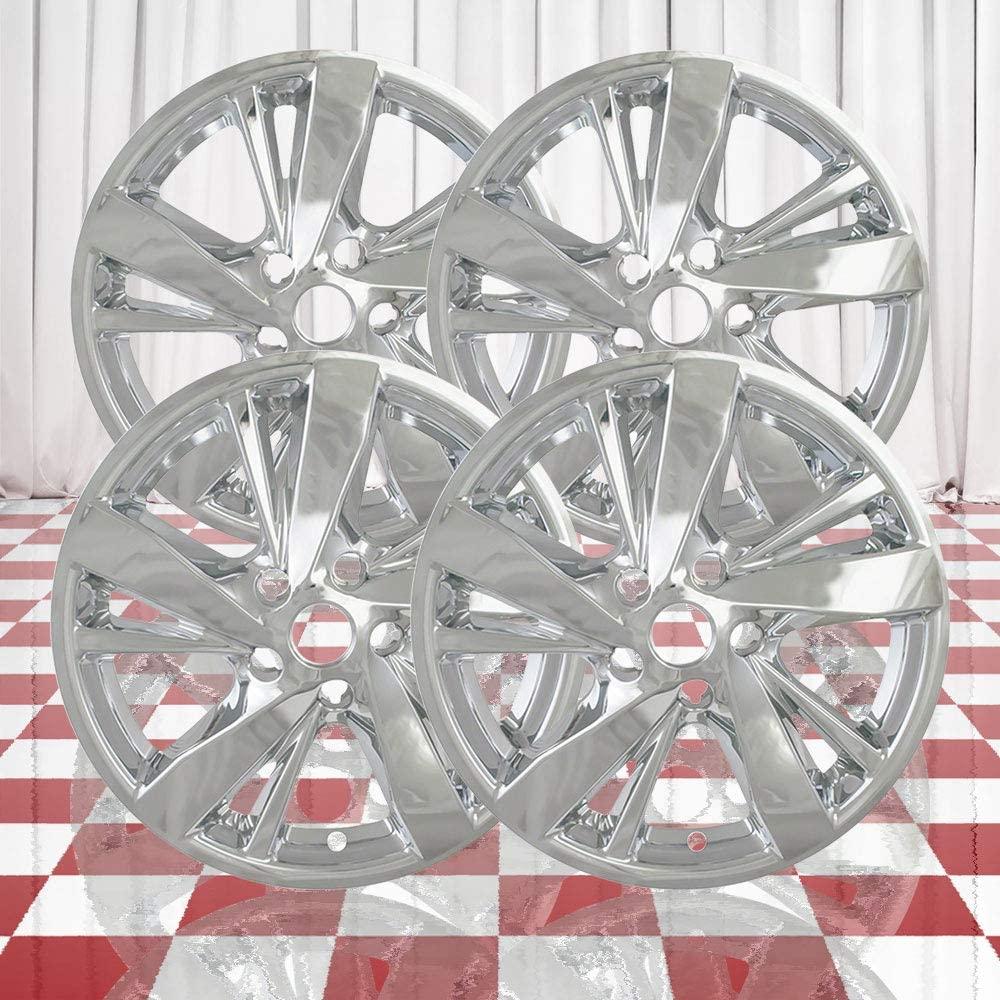 Brighter Design Set of 4 Chrome 5 Double Spoke 17 Wheel Skins for 2017-2018 Nissan Altima