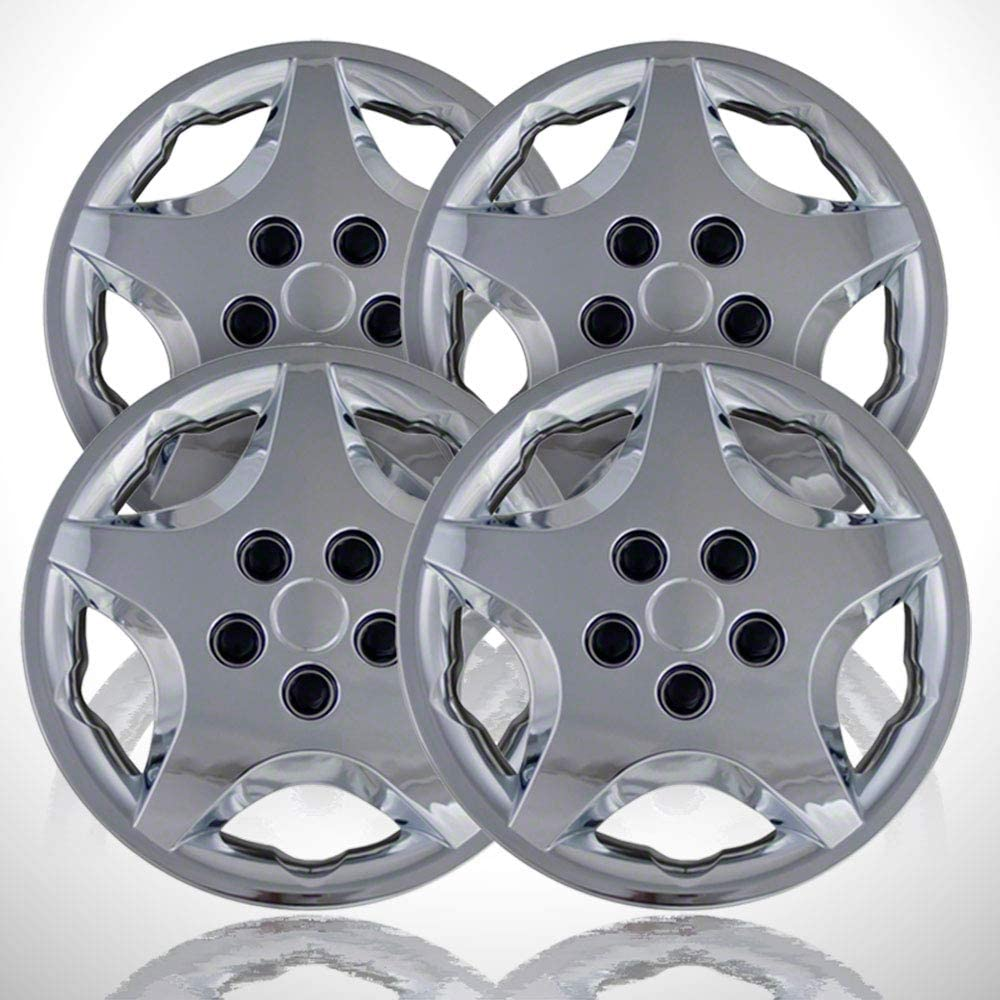4-Pack of 14' Push-on Chrome Hubcaps fit for 2000-2005 Cavalier