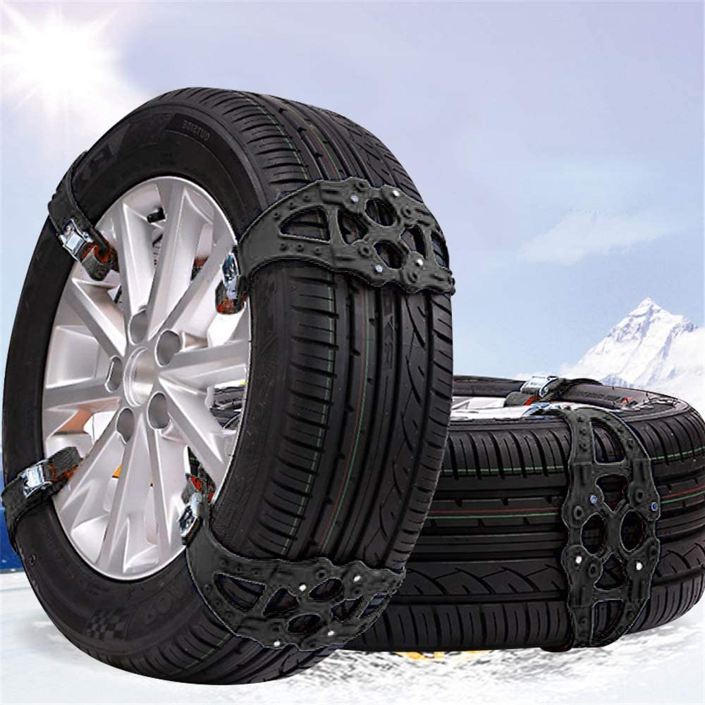 Anti-Skid Snow Chains - Bessie Sparks 8PCS Universal Portable Car Snow Tyre Chains Easy to Mount Emergency Traction for Tyres Width 165-265mm