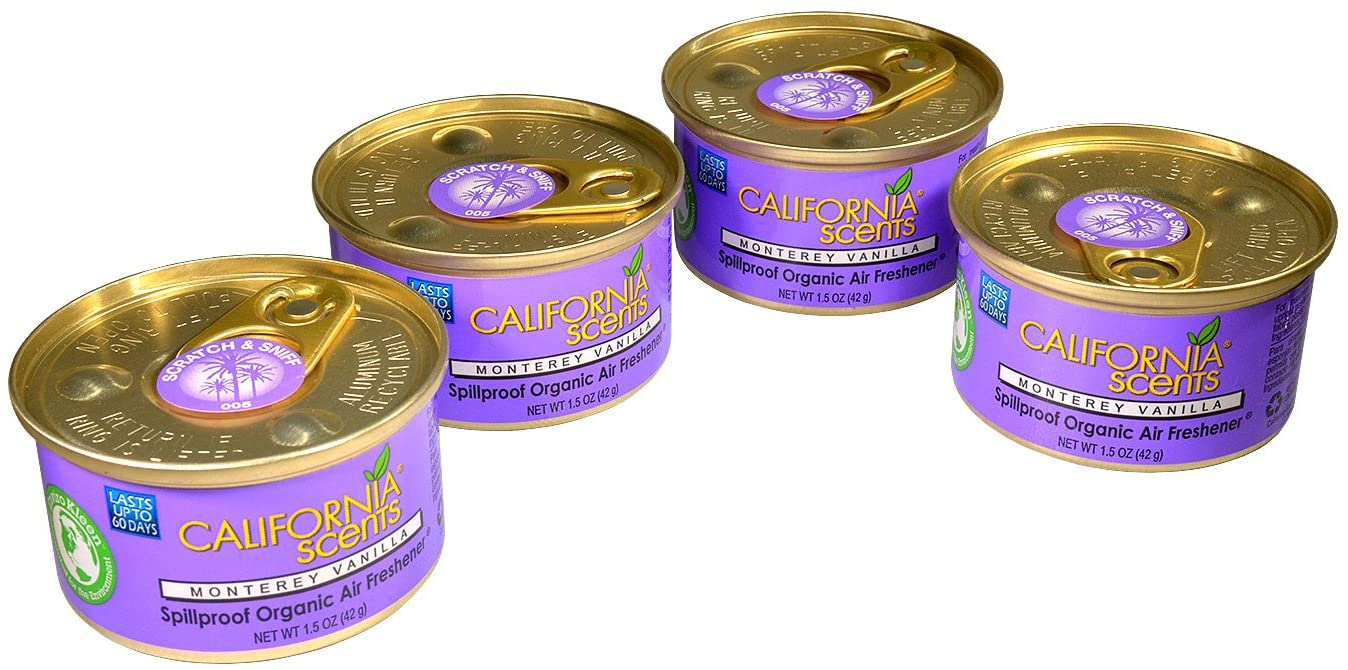 California Scents Air Freshener 4-Pack Car Air Freshener (Monterey Vanilla)