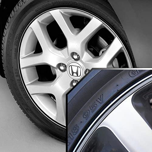 Upgrade Your Auto Wheel Bands Silver in Black Pinstripe Edge Trim for Honda S2000 13-22 Rims