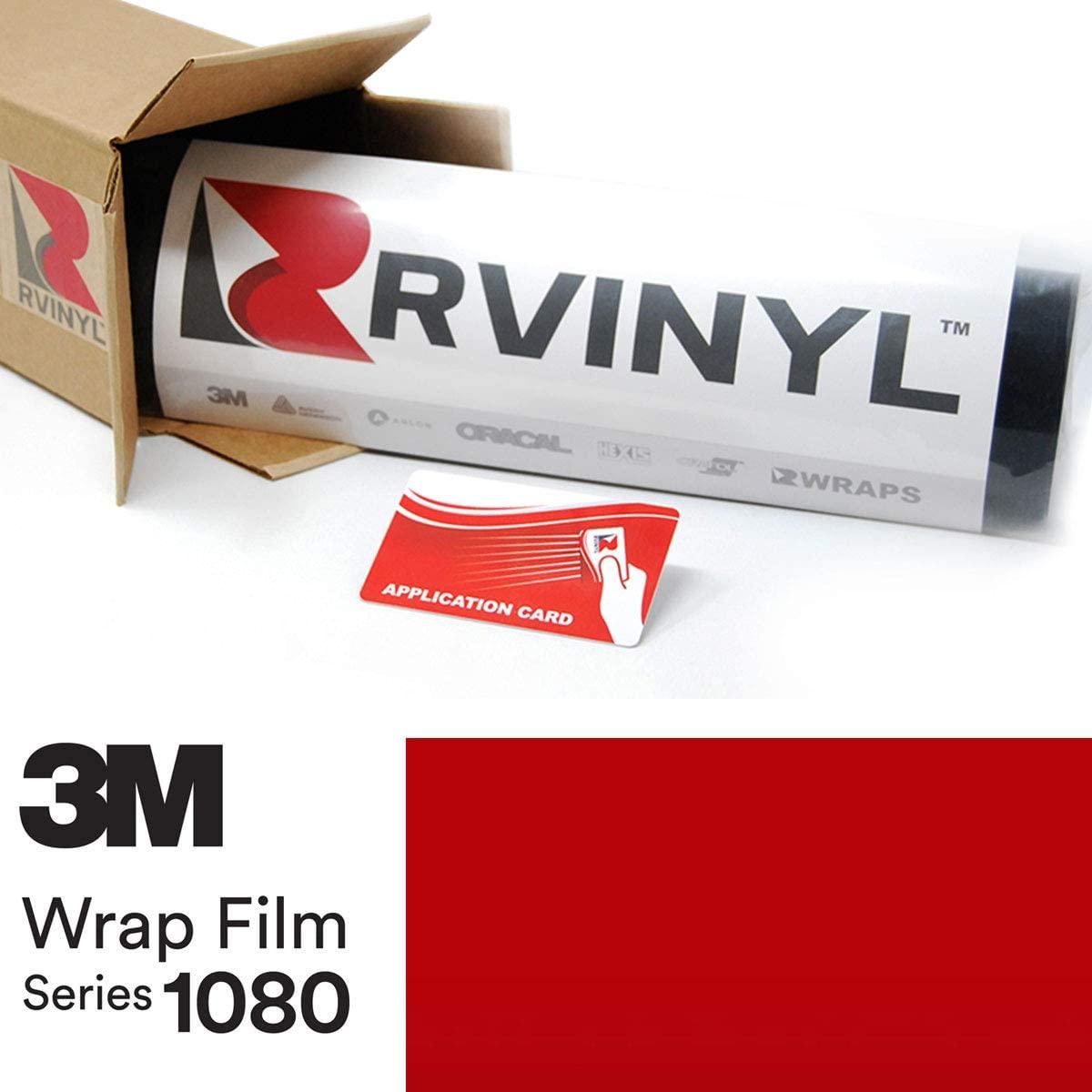 3M 1080 S363 Satin Smoldering RED 5ft x 1ft W/Application Card Vinyl Vehicle Car Wrap Film Sheet Roll