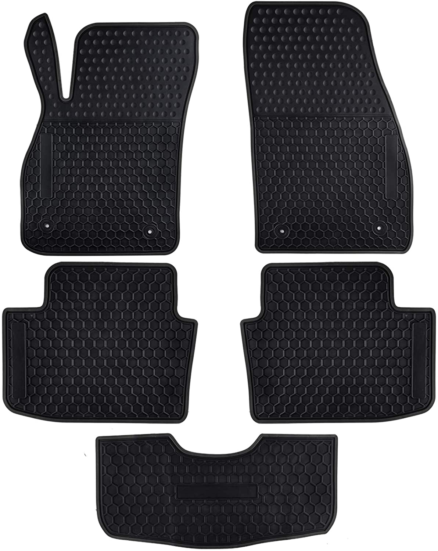 Ucaskin Car Floor Mats Custom Fit for Chevrolet Chevy Malibu 2015 2014 2013 Odorless Washable Rubber Foot Carpet Heavy Duty Anti-Slip All Weather Protection Car Floor Liner-Black