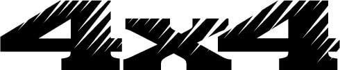 4 Wheel Drive 4X4 18, Vinyl Car Decal, White, 20-by-20 inches