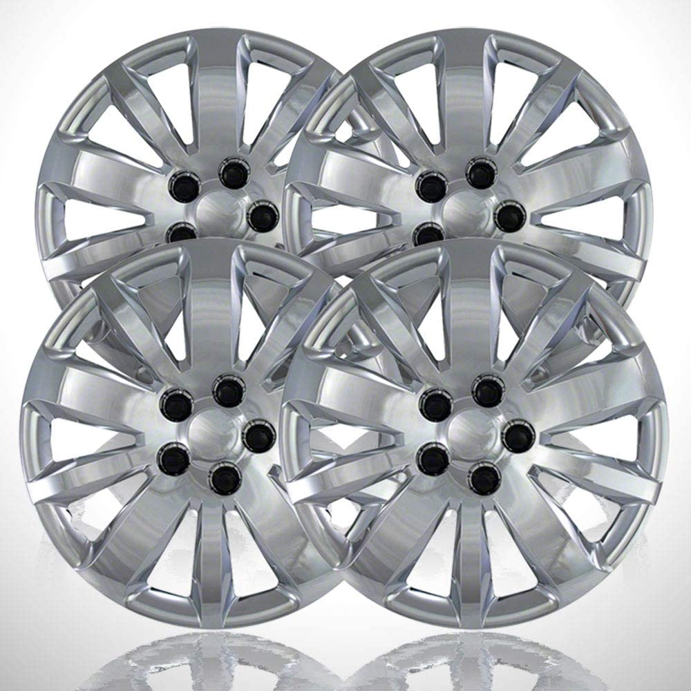 4-Pack of 16' Screw-on Chrome Hubcaps fit for 2011-2011 Cruze