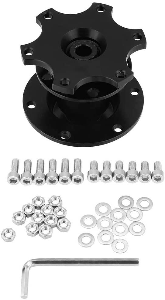 Fast Detach Snap Off Hub Adapter, Durable Wheel Hub Adapter Kit, Easy Installation for Steering Wheels Vehicle Car Aftermarket Boss Kit(black)