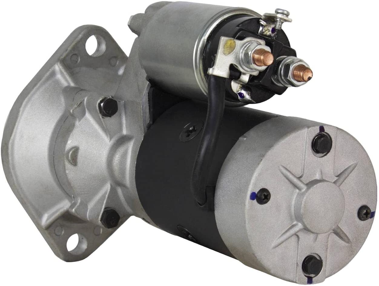 Rareelectrical NEW STARTER COMPATIBLE WITH KOMATSU EXCAVATOR PC35 PC40 PC50 SK815 SK714 4D88E 12 VOLT S13-332 VV12913677011 YM129400-77012 YM12940077012, 129136-77011 S13332, 12913677011