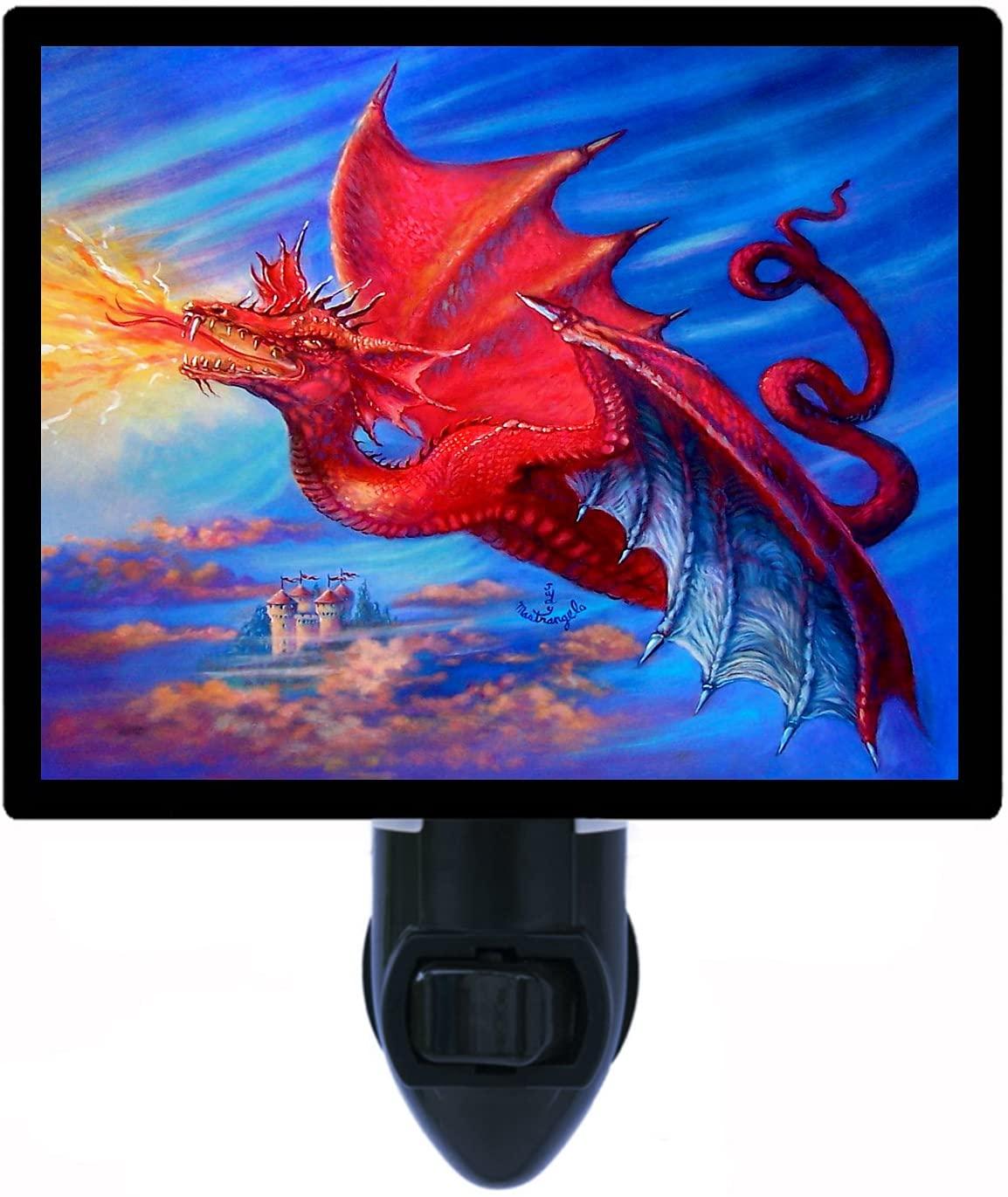 Fantasy Night Light, Red Dragon