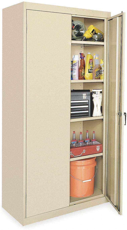 "Industrial Storage Cabinet, Black, 78"" H X 36"" W X 24"" D, Unassembled"