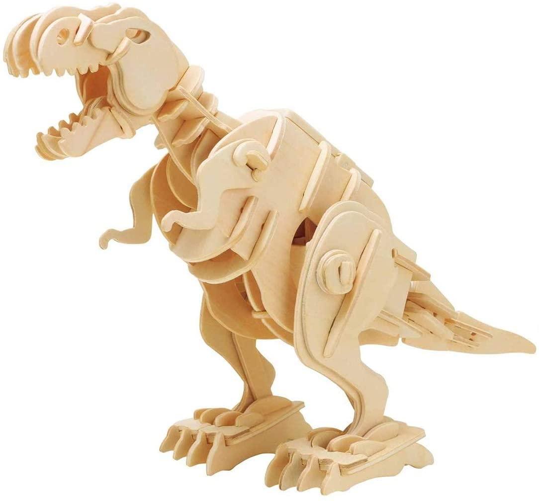Sound Control Robot, Wooden Kinetic T-Rex Model Kit by Robotime