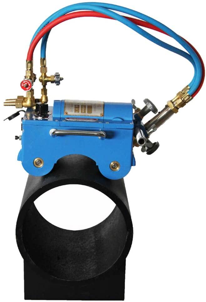 Intbuying Pipe Beveling Machine Gas Pipe Cutting Torch Beveler Manual/Electric Kit (CG211C)