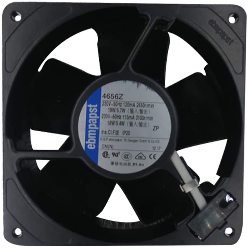 ebmpapst Fan 4656Z Axial Fan120 x 120 x 38mm All Metal High Temperature Resistance for Cabinet Cooling Fans