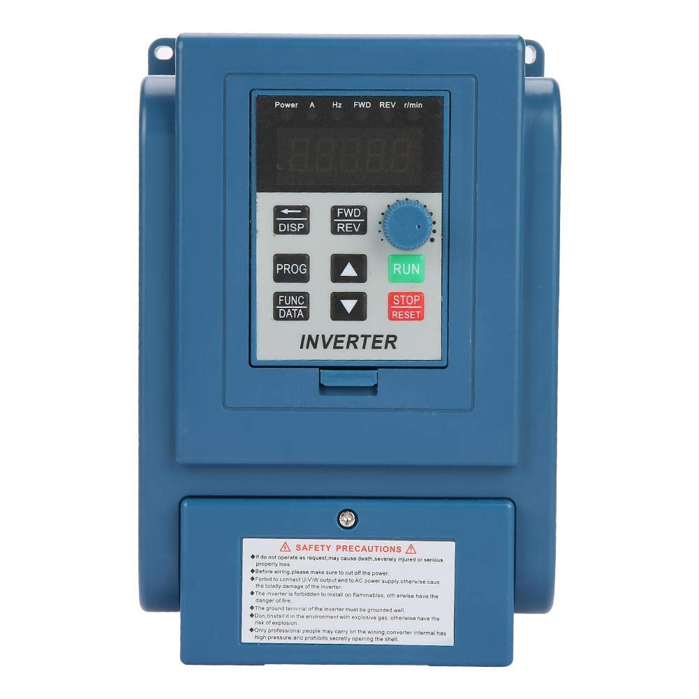 Variable Frequency Drive,1PC AC 380V 1.5kW 4A Variable Frequency Drive VFD 3 Phase Speed Controller Inverter Motor,Motor Inverter Converter for Spindle Motor Speed Control