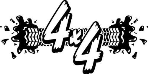 4 Wheel Drive 4X4 7, Vinyl Car Decal, Black, 15-by-15 inches
