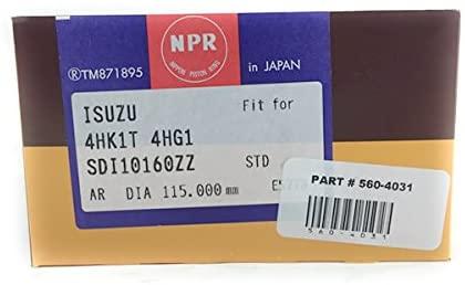 Piston ring set for Isuzu NPR NPR-HD NQR NRR 4CYL Set 4HK1 5.2L 07 AND UP
