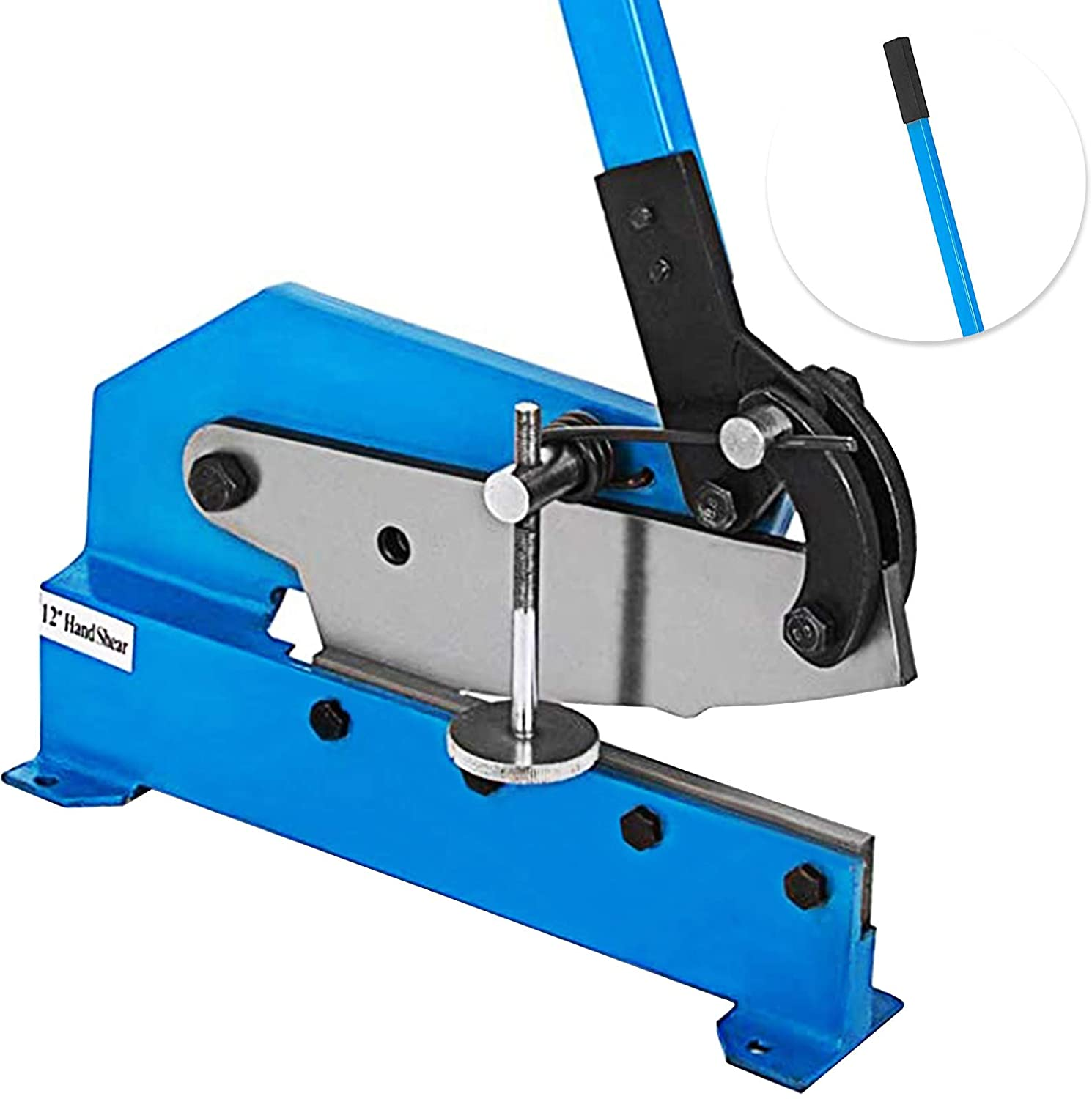 VEVOR Hand Plate Shear 12,Manual Metal Cutter Cutting Thickness1/4 Inch Max,Metal Steel Frame Snip Machine Benchtop 1/2 Inch Rod,for Shear Carbon Steel Plates and Bars