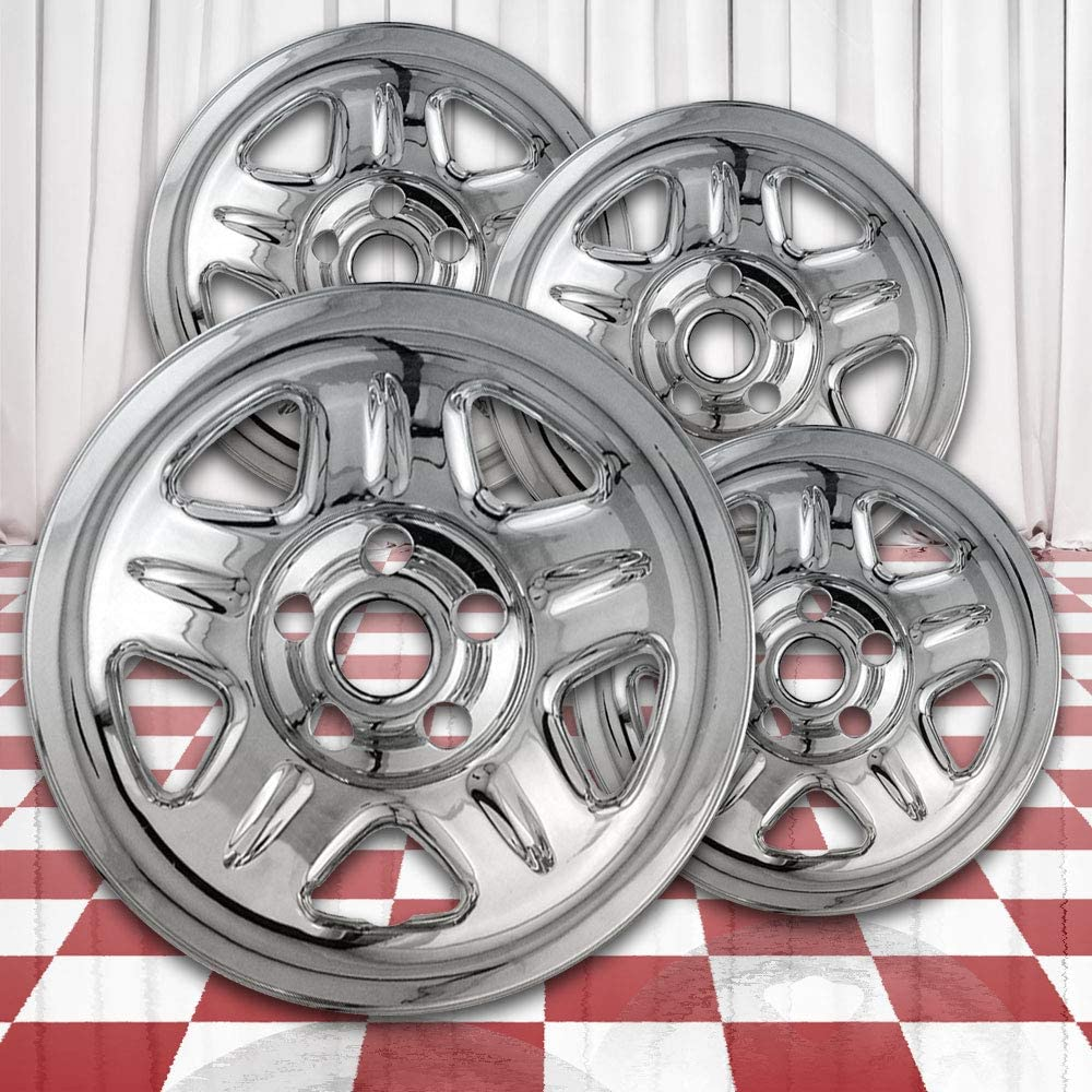 Brighter Design Chrome 15in Wheel Skin Overlays for 1993-2001 Jeep Cherokee [Hlnd:9012 ABS]
