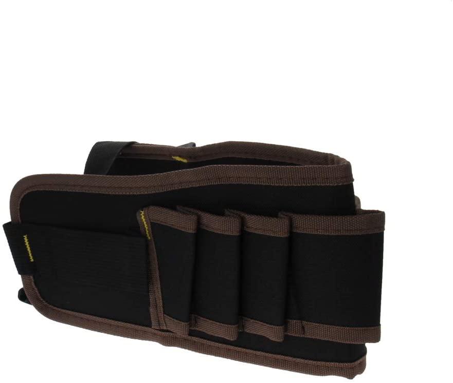 Utoolmart Professional Oxford Canvas 3 Tool Pockets, Fully Adjustable Waterproof & Protective Work Belt Brown 1Pcs
