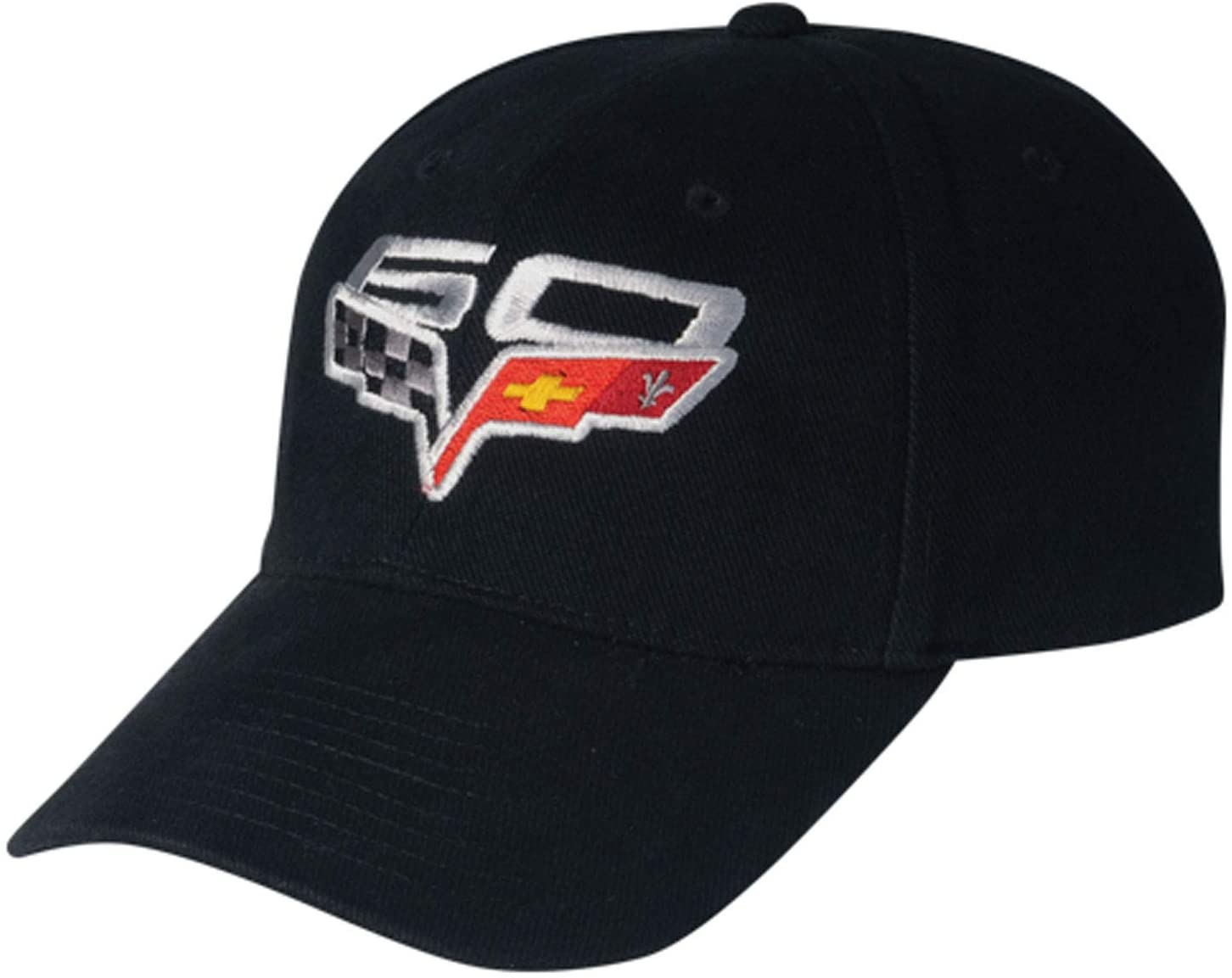 Gregs Automotive 60th Anniversary Black Logo Hat Cap Compatible with Chevrolet Chevy Corvette - Bundle with Driving Style Decal