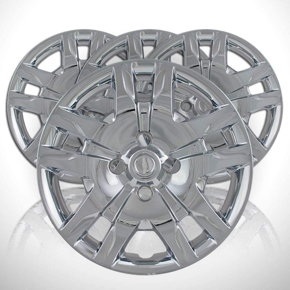 Elite Auto Chrome Set of 4 Wheel Covers fit for 2010-2012 Nissan Sentra 10 Spoke 16 inch - Silver