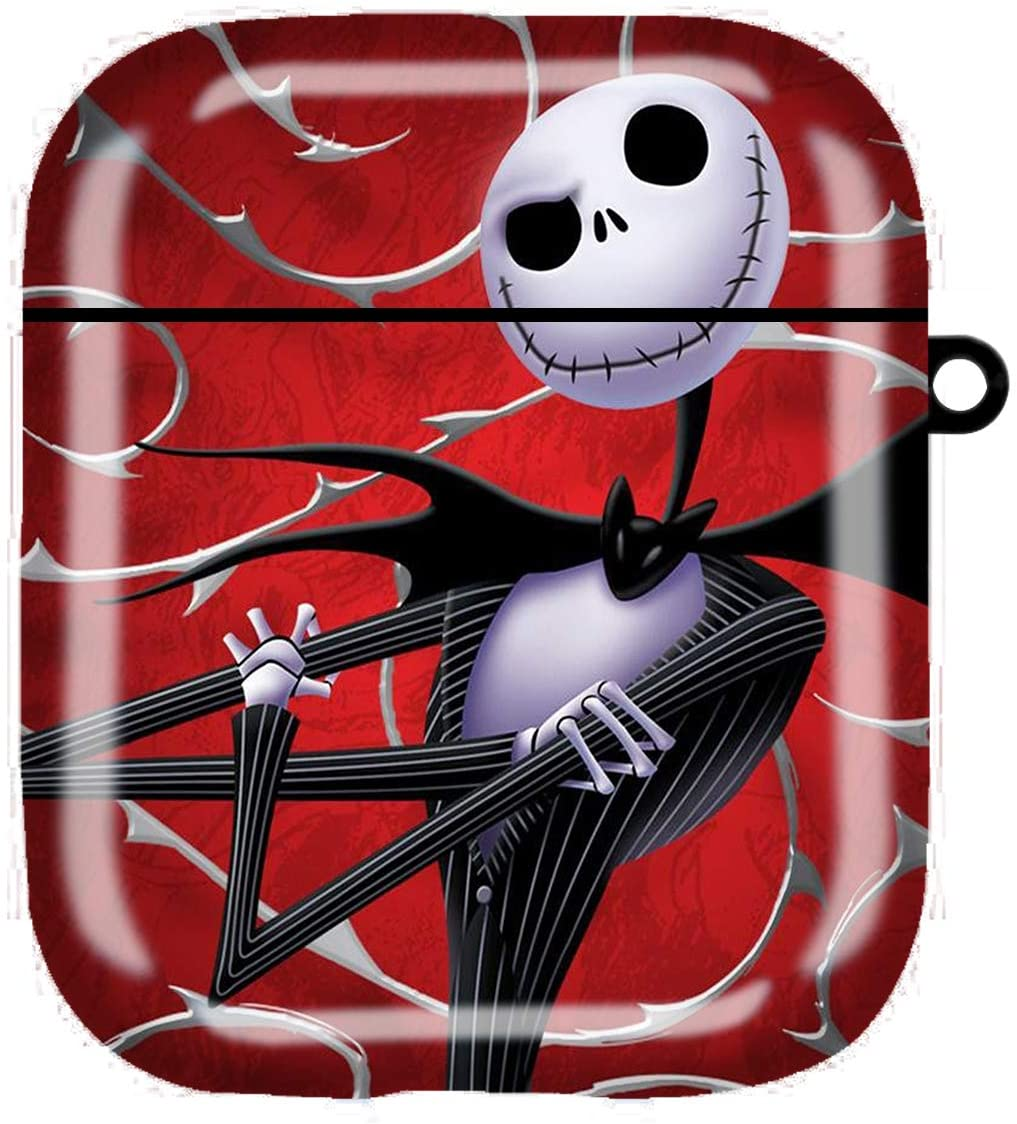Jack Skellington 1 Airpods Case Cover, Portable & Protective TPU Cover Case Charging Case for Women & Men