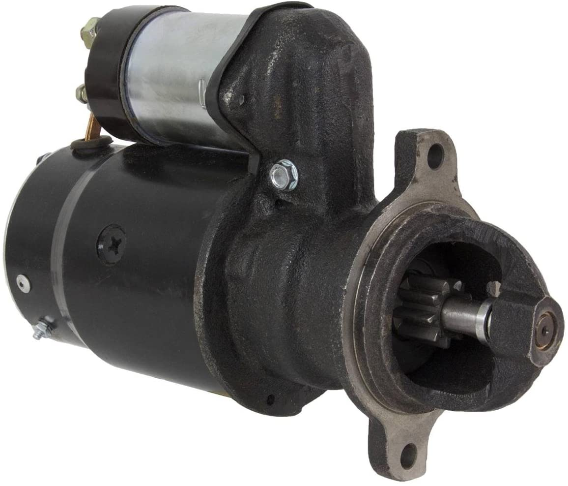 Rareelectrical NEW 12V 9T STARTER MOTOR COMPATIBLE WITH CLARK FORKLIFT CF25 CFY60 CT20 CT30 CT40 1109086 999665