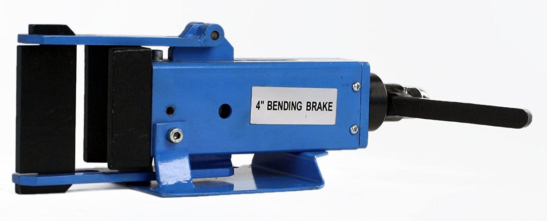 Erie Tools 4 Hand Operated Steel Bending Brake & Sheet Metal Form Bender with Pressing Die & Stop Assembly