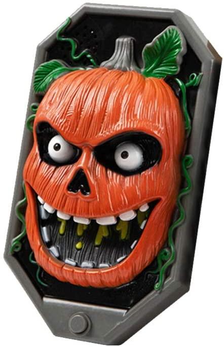 BESPORTBLE 1 PC Creepy Halloween Doorbell Sounding Light Up Doorbell Door Decorations Party Doorbell Prop