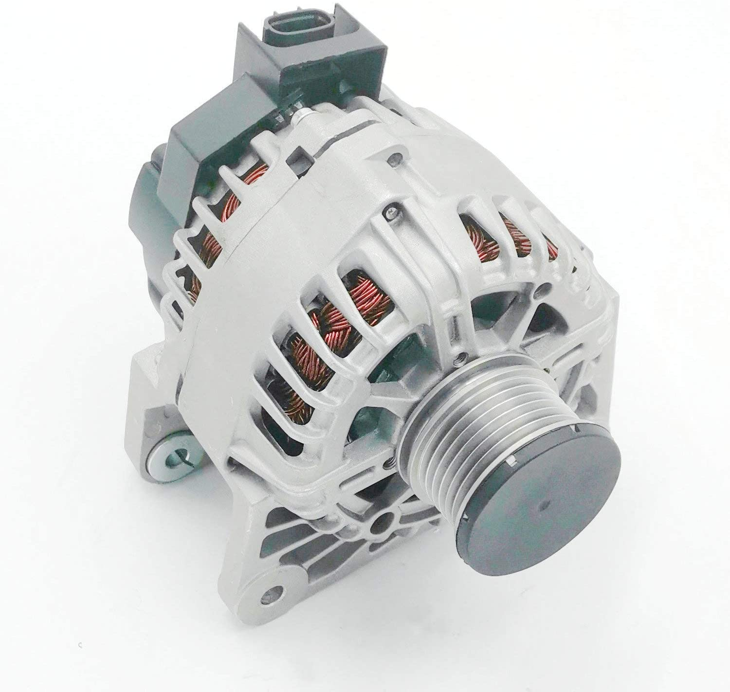 TYC - Alternator For 2016 Nissan Sentra (Note: Regulator Position: Internal, Fan Position: Internal, Power Generation: 110A) - Premium Quanlity With One Year Warranty