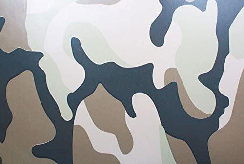 Rwraps Camouflage Vinyl Film Sheet Wrap Roll - Desert Camo 12