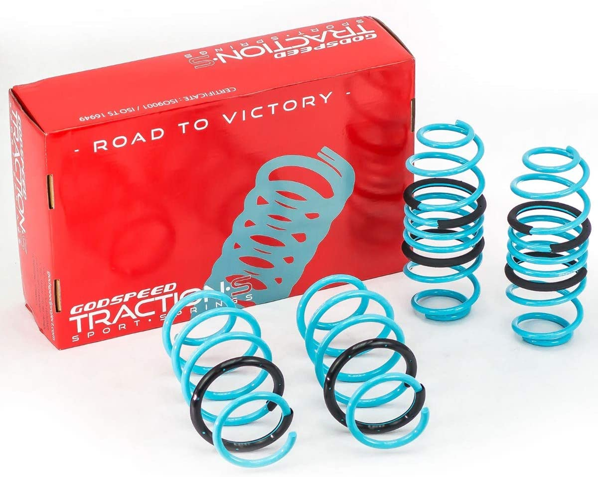 Godspeed LS-TS-HA-0016 Traction-S Performance Lowering Springs, Reduce Body Roll, Improved Handling, Set of 4, compatible with Honda Fit (GK) 2015-20
