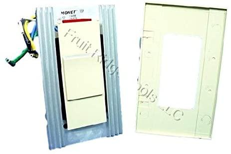 Ivory Monet Slide Ceiling Fan Speed Control 120V 7.5A MNF07-1LI